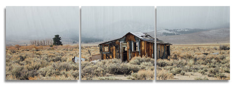 Eastern Sierra House Wood Print | Landscape Split Panel 2