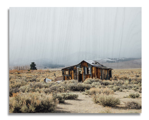 Eastern Sierra House Wood Print | Single Panel