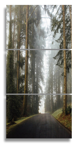 Foggy Oregon Wood Print | Landscape Split Panel Vertical 1