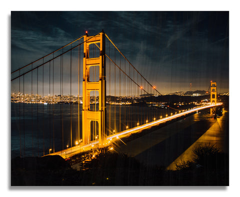 Golden Gate Bridge Wood Print | Single Panel