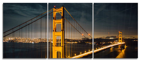 Golden Gate Bridge Wood Print | Portrait Split Panel 1