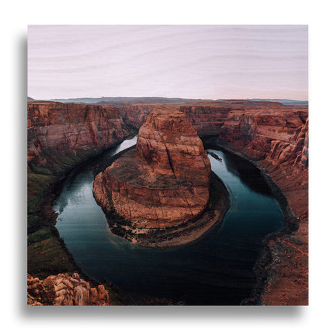 Horshoe Bend Wood Print | Single Panel