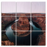 Horseshoe Bend Wood Print | The Nine Split Panel 1