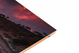 Palos Verdes Cliffs Wood Print | Landscape Split Panel