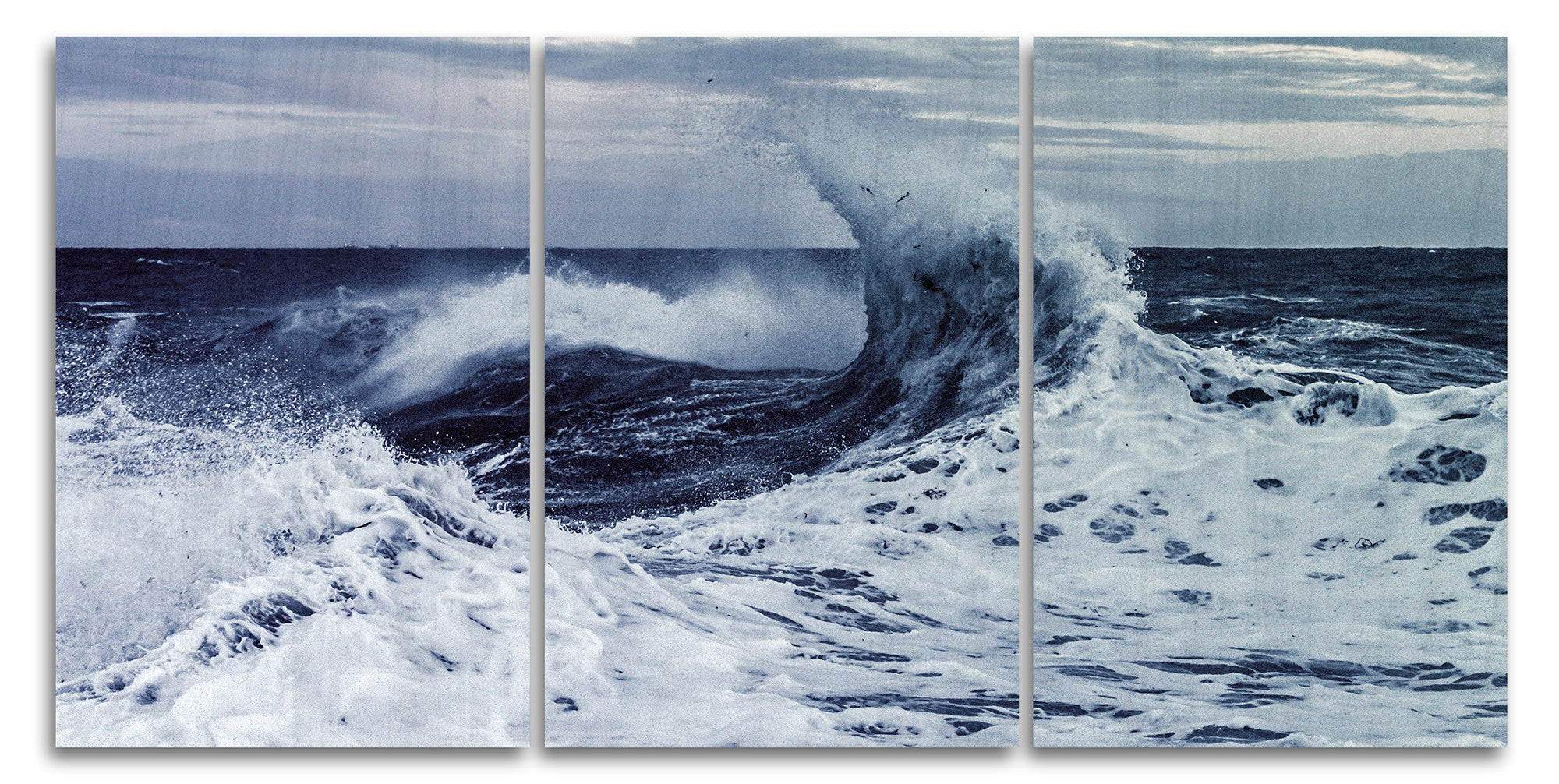 Stormy Coastline Wood Print | Portrait Split Panel