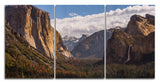 Tunnel View Yosemite Wood Print | Portrait Split Panel