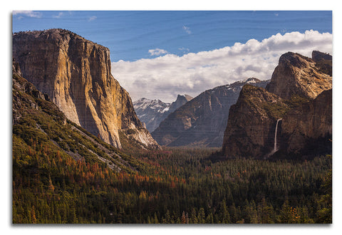 Tunnel View Yosemite Wood Print | Single Panel