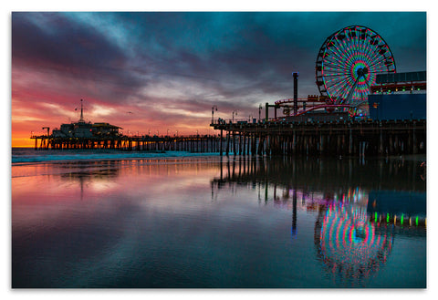 Santa Monica Wood Print | Single Panel