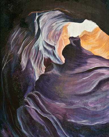 Antelope Canyon 2 Wood Print | Single Panel