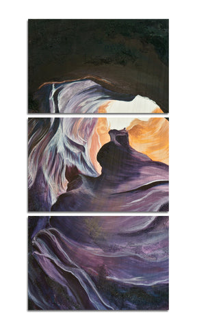 Antelope Canyon 2 Wood Print | Landscape Vertical Split Panel