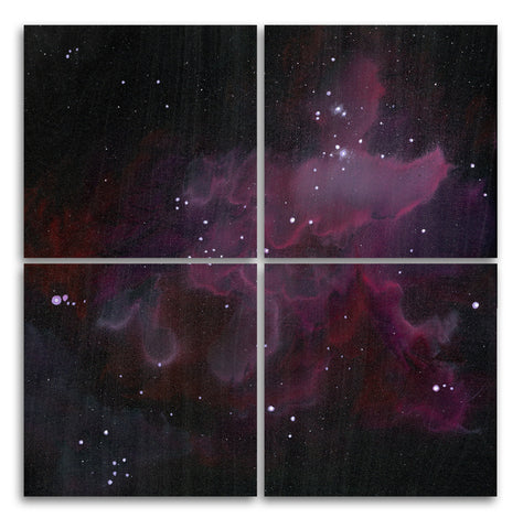 Nebula 1 Wood Print | Four Square Split Panel