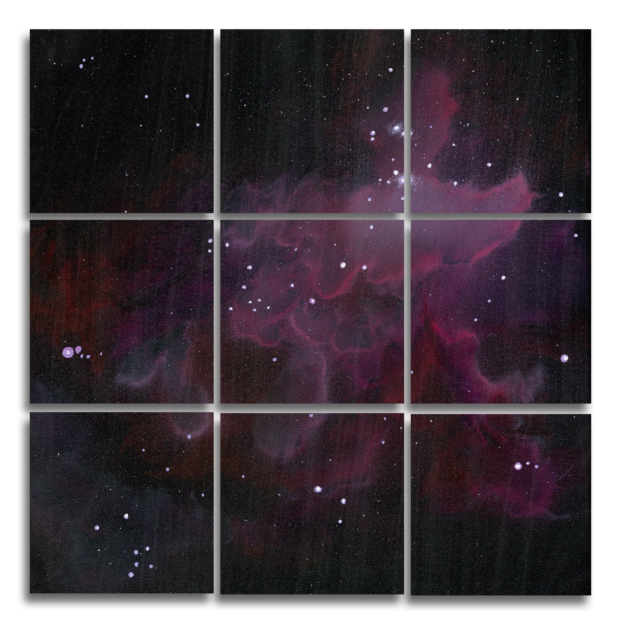 Nebula 1 Wood Print | The Nine Split Panel 3