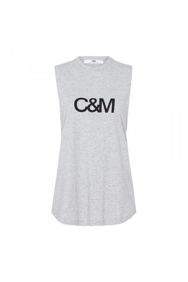 C&M Classic Logo Tank Grey Marle, Tank, C & M - Mika and Max