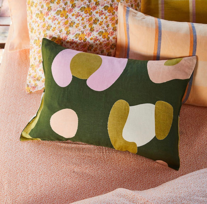 SOLANGE LINEN PILLOWCASE SET, sage and Clare, Mika and max