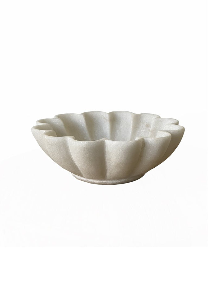 Indian Marble Lotus Bowl - Small