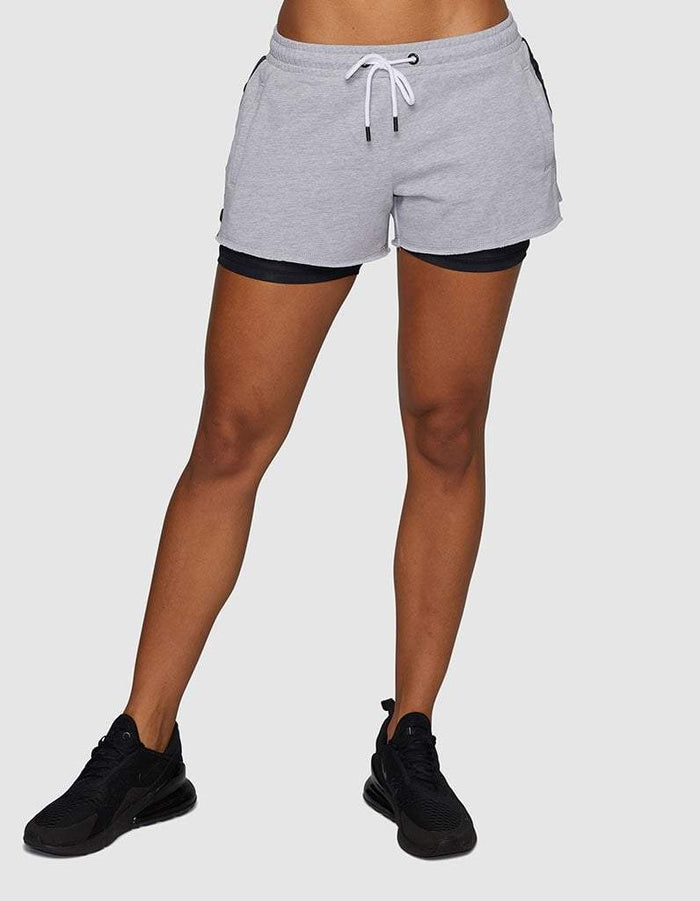 Sahara layered fleece short grey Marle, jaggad