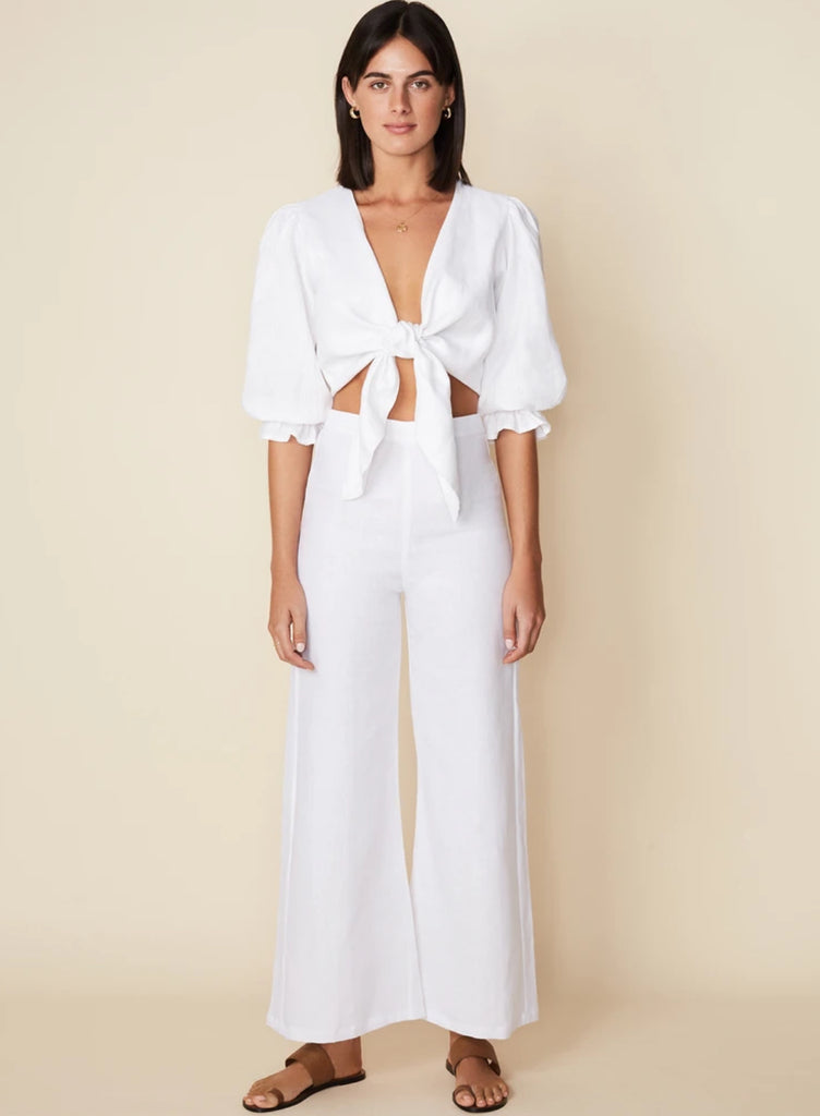 Jacinta Top Plain White