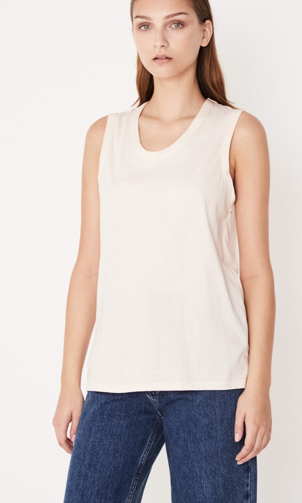 Scoop Tank Pale Pink, Top, Assembly Label - Mika and Max