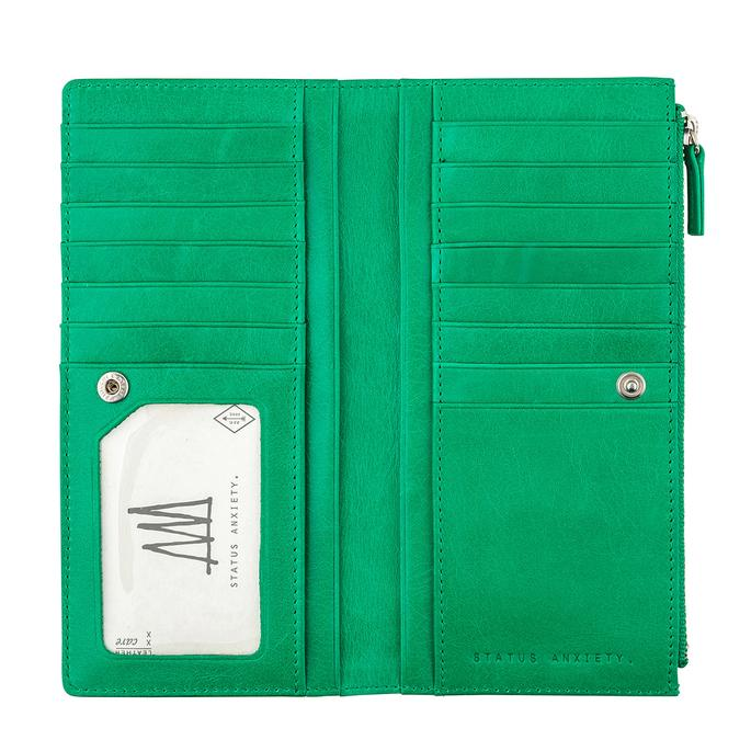 Dakota Wallet Emerald, Wallet, Status Anxiety - Mika and Max