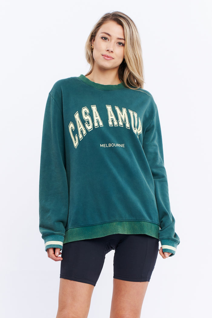 VINTAGE JUMPER - Pine green, casa Amuk, Mika and Max