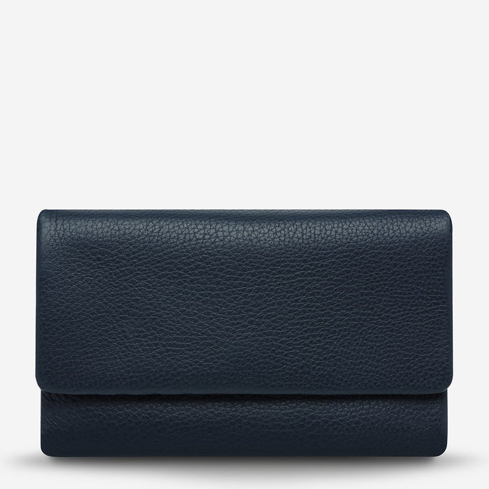 Audrey Wallet Navy Pebble