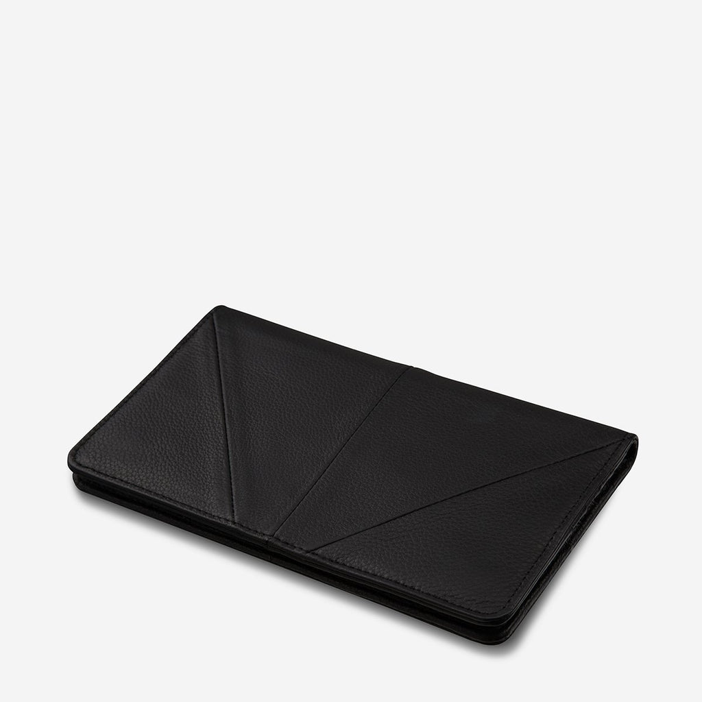 Triple Threat Wallet Black, Wallet, Status Anxiety - Mika and Max
