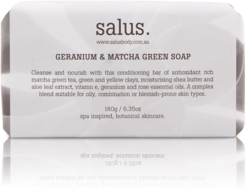 GERANIUM & MATCHA GREEN SOAP, Soap, Salus - Mika and Max