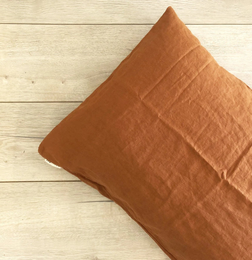 Linen pillowcase - Clay