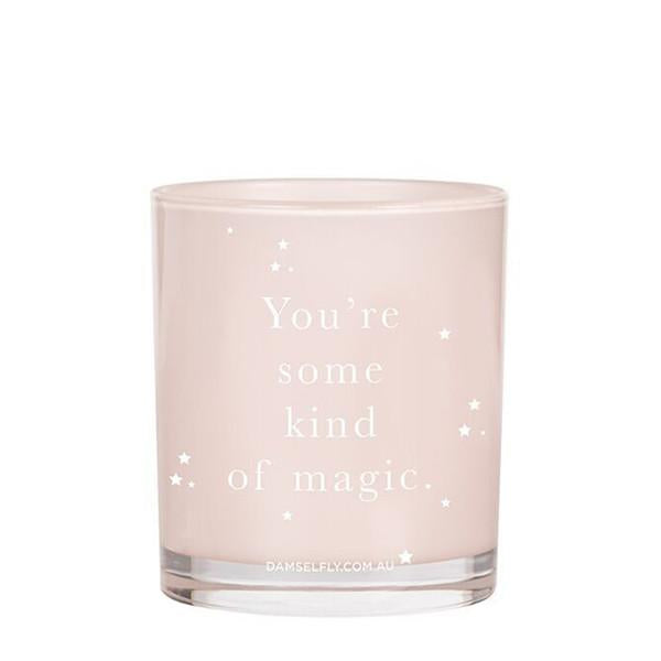 Quote Candle, you're some kind of magic, damselfly, Mika and Mach