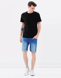 Men's Crew Neck Tee Black, Tee, Casa Amuk - Mika and Max