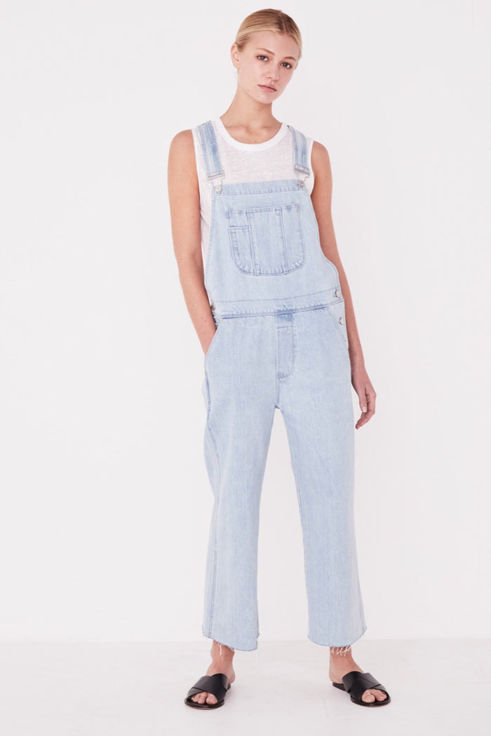 Wide leg Overalls pacific blue, assembly label