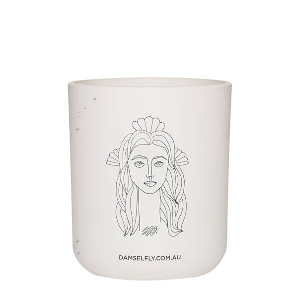 Zodiac candle Aquarius, damselfly