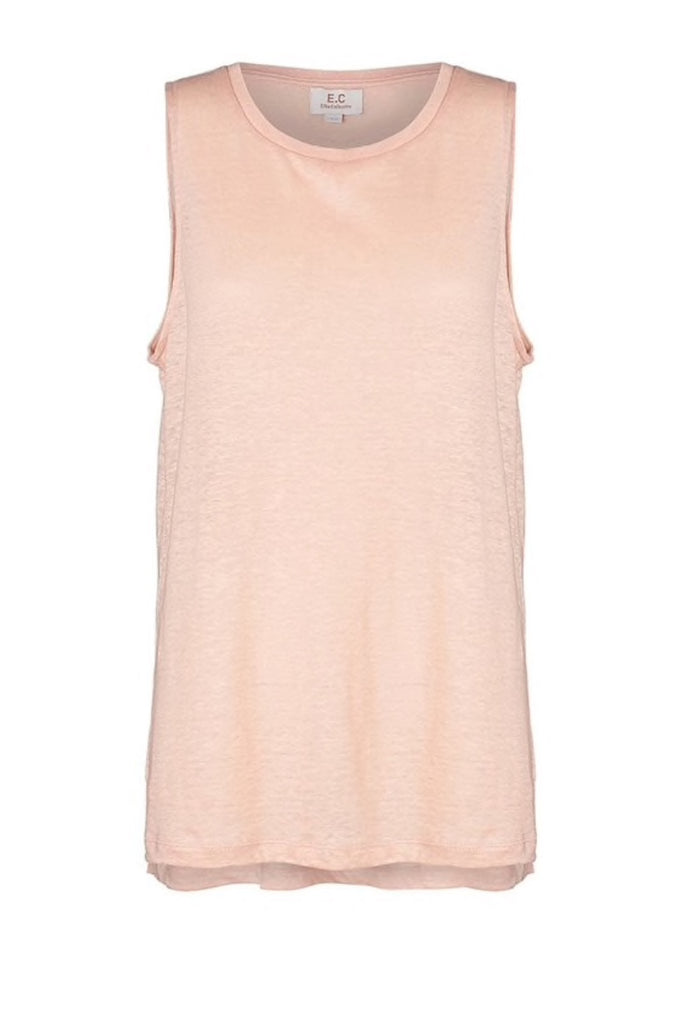 Ec linen tank, dusty pink, elka collective