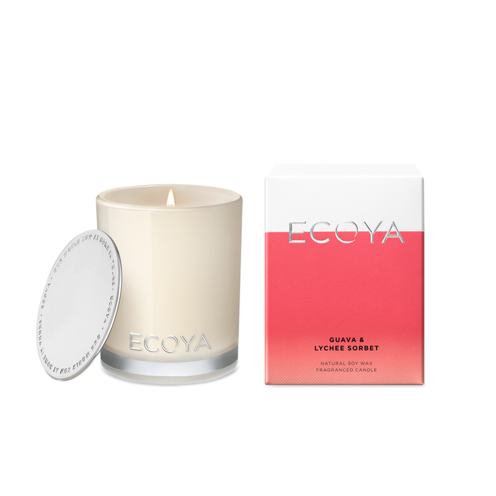Guava and Lychee Sorbet Mini Madison Jar, Candle, Ecoya - Mika and Max