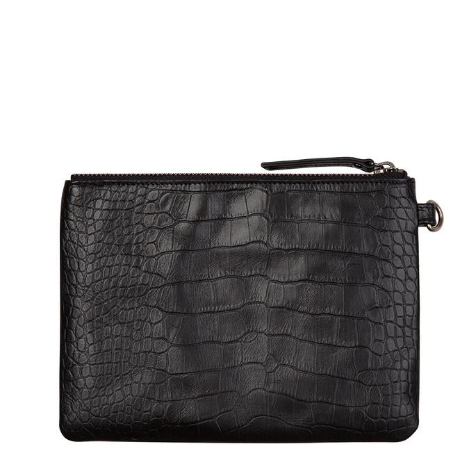 Fixation Wallet Black Croc Emboss, Wallet, Status Anxiety - Mika and Max
