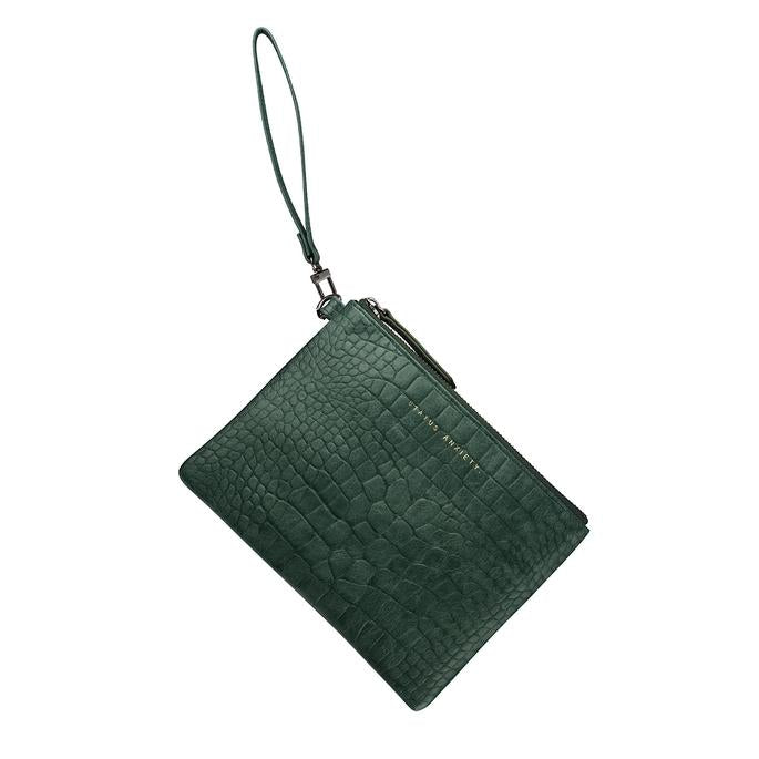 Fixation Wallet Teal Croc Emboss, Wallet, Status Anxiety - Mika and Max