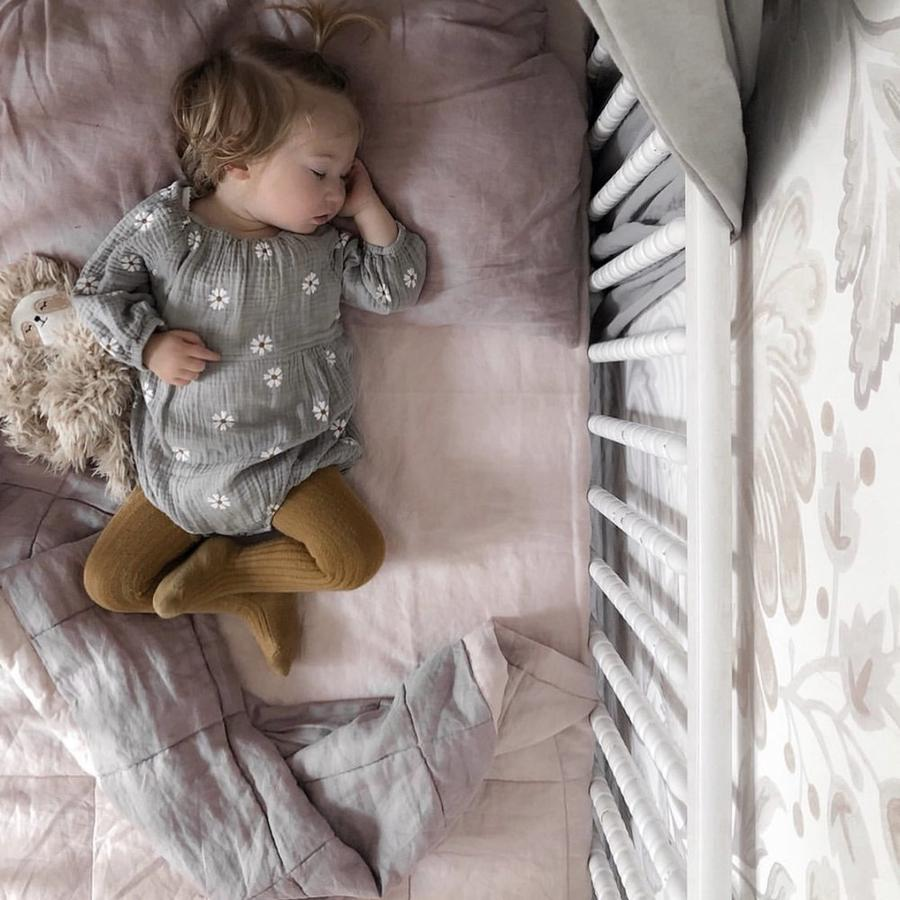 PEONY AND ROSEWOOD QUILTED BLANKET / PLAYMAT