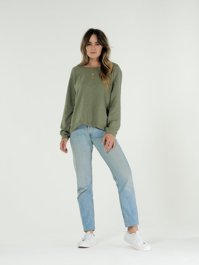 Lucy sweater khaki, cle the label, Mika and Max