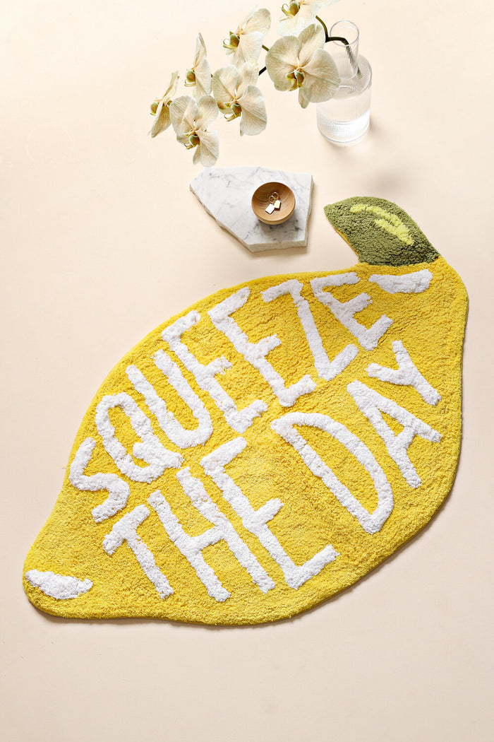 LEMON BATH MAT - SQUEEZE THE DAY, miss April, Mika and max