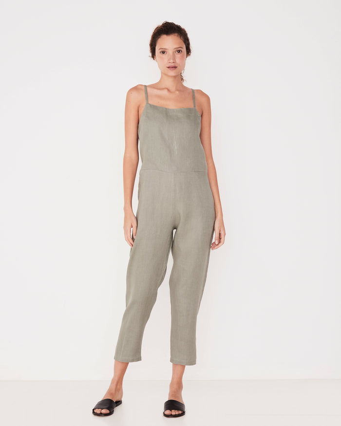 Pinafore Jumpsuit seagrass, Assembly Label