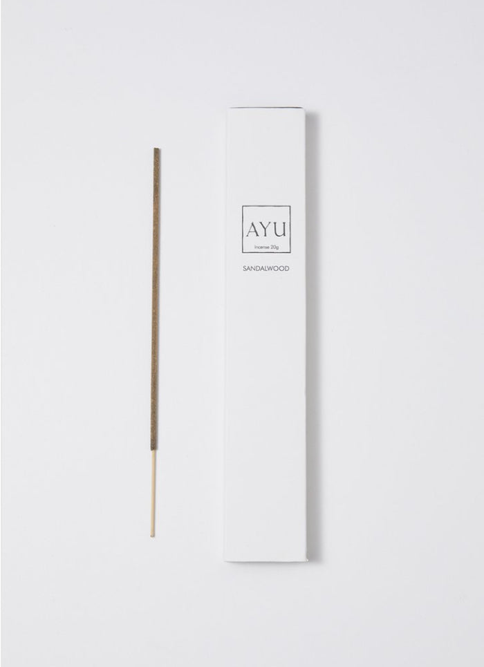 AYU, sandalwood incense, Mika and max