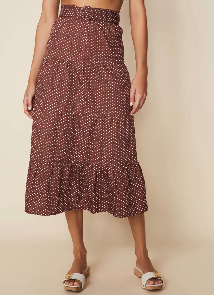 Farida Midi Skirt Bonnie Dot Print, Faithfull the brand, Mika and Max