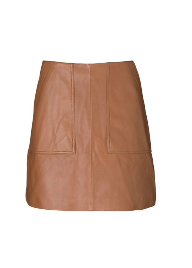 Lucette Leather Skirt