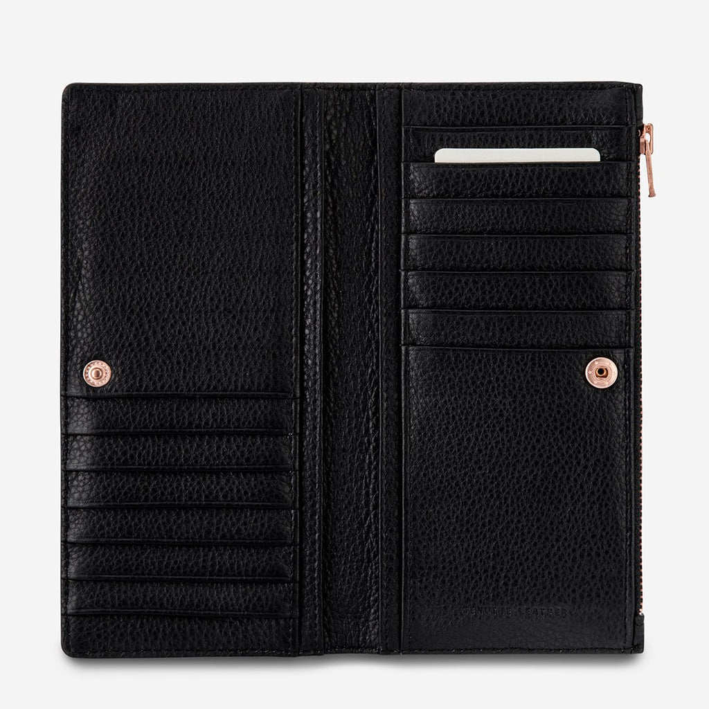 In the Beginning Wallet Black, Wallet, Status Anxiety - Mika and Max