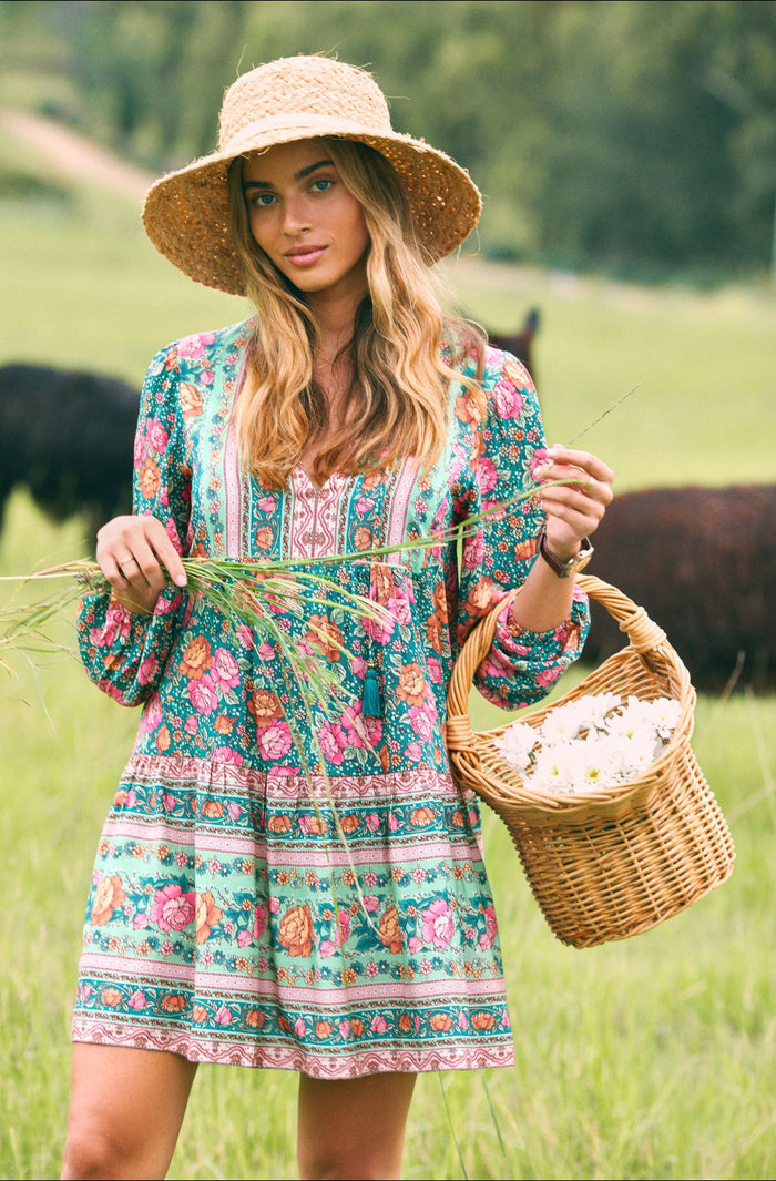 Amberley Tunic dress emerald, arnhem