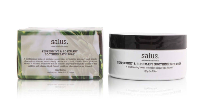 Peppermint and Rosemary Soothing Bath Soak, Skincare, Salus - Mika and Max