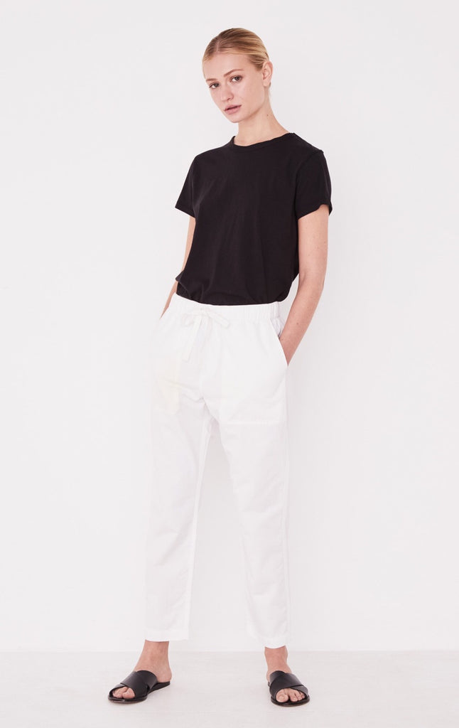 Coast Cotton Pant White, Pants, Assembly Label - Mika and Max