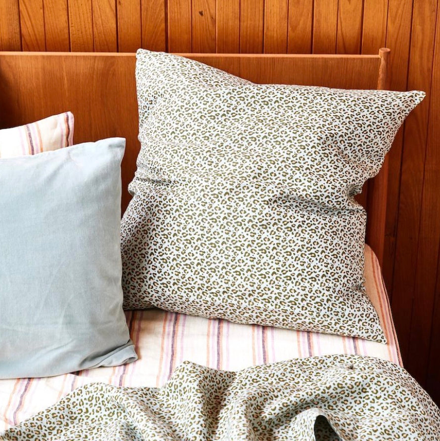 AJO LINEN EURO PILLOWCASE SET - SALTBUSH