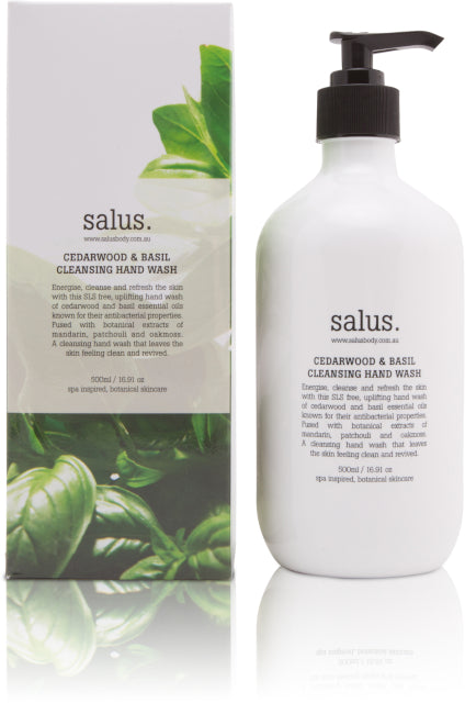 Cedarwood and Basil Cleansing Hand Wash, Hand Wash, Salus - Mika and Max
