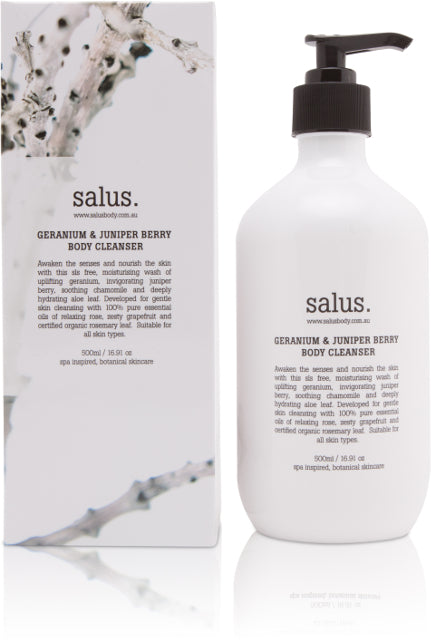 GERANIUM & JUNIPER BERRY  BODY CLEANSER, Body wash, Salus - Mika and Max